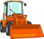 Vektor bulldozer — Stockvektor