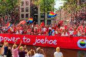 Amsterdam  Gay Pride 2014 — Stock Photo