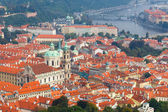 Views over Prague from the height of Petrin Hill. — Stock Photo
