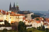 Czech Republic. Prague. View of Prague Castle from  Petrin hill — Stock Photo