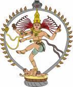Vector goddess Kali — Stock Vector