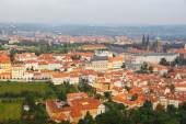 Views over Prague from the height of Petrin Hill. — Foto Stock