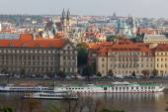 View of Prague and the Vltava River. — Fotografia Stock