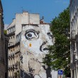 Graffiti on the wall of a house in Paris. — Stock Photo #57550941