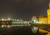 View of Prague and the Vltava River. — Stock Photo