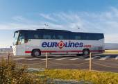 Passenger bus. Eurolines. — Stock Photo