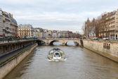 Paris. The River Seine. — Stock Photo