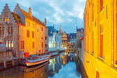 Bruges. Green canal. — Stock Photo
