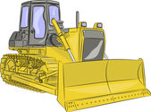 Vector bulldozer — Stock Vector