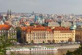 View of Prague and the Vltava River. — Stock Photo