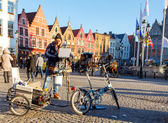 Bruges streets. — Stock Photo