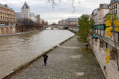 Paris. Promenade along the Seine. — Stock Photo