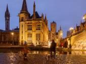 Belgium. Gent at night. — Stock Photo
