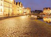 Belgium. Gent at night. — Stockfoto