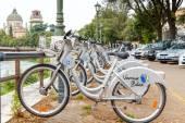 Bikes for rent in Verona. — Stock Photo