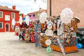 Venice. The island of Burano. — Foto de Stock