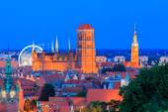 Gdansk. St. Marys Church at night. — Stock Photo