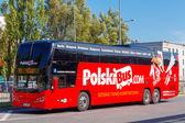 Warsaw. Bus Poland. — Stock Photo