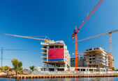 Construction of a residential complex. — Stock Photo