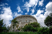 The round tower at Windsor castle in Berkshire. — Stock Photo