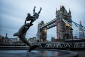 London Tower Bridge across the River Thames — Stock Photo