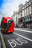 The iconic red Routemaster Bus in London — Stock Photo