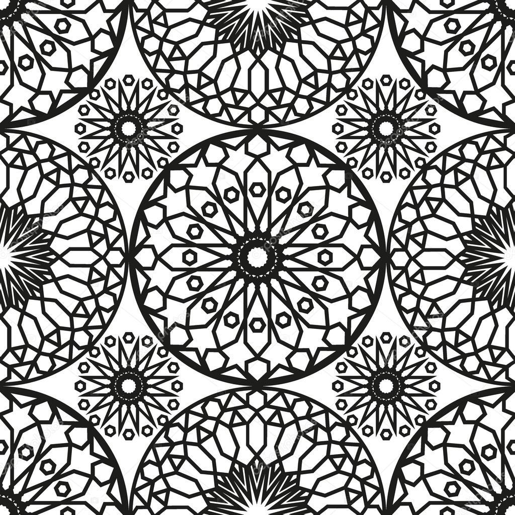 ornement rond maroc mod le sans couture orienter l 39 ornement traditionnel motif oriental plat. Black Bedroom Furniture Sets. Home Design Ideas