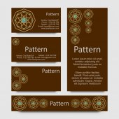 Business cards pattern with esoteric morocco ornament — Vettoriale Stock