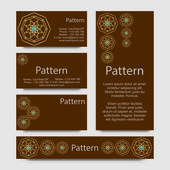Business cards pattern with esoteric morocco ornament — Stockvektor