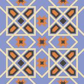 Ornamental triangular and hexagonal morocco seamless pattern. Orient traditional ornament. Oriental motif. Flat.RGB — Stock Vector