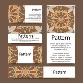 Business cards pattern with Islamic morocco ornament. — Stock Vector