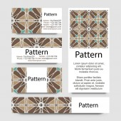 Business cards pattern with Islamic morocco ornament. — ストックベクタ