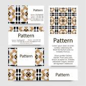 Business cards pattern with Islamic morocco ornament. — Vettoriale Stock