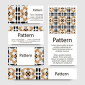 Business cards pattern with Islamic morocco ornament. — Stockvektor