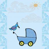 Baby born card — Stock Vector