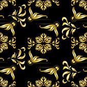 Vintage golden art deco seamless pattern — Stock Vector
