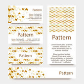 Business cards pattern with broken wall or puzzle ornament. INCLUDES SEAMLESS PATTERN. CMYK — Stockvektor
