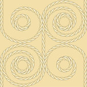 Sea rope seamless pattern — Stock Vector