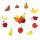Cartoon Fruits collection — Stock Vector