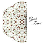 Illustration of  greeting card with ornate persian ornament. — Vetor de Stock