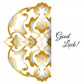 Illustration of  greeting card with ornate persian ornament. — Stockvector