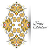 Illustration of  greeting card with ornate persian ornament. — ストックベクタ