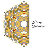 Illustration of  greeting card with ornate persian ornament. — Wektor stockowy