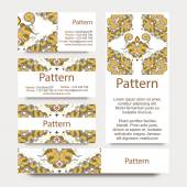 Business cards pattern with Islamic persian ornament. Includes seamless pattern — Stock Vector