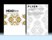 Abstract Moroccan Geometric Brochure Flyer design Layout vector template in A4 size, vertical, free fonts are used. Good document structure. — Stock Vector
