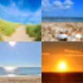 Blurred summer backgrounds set — Stock Vector