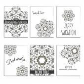 6 universal templates for menu cover, wedding card, book cover with moroccan islamic ornament. — Stock Vector