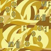 Klimt geïnspireerd naadloze geometrische patroon — Stockvector