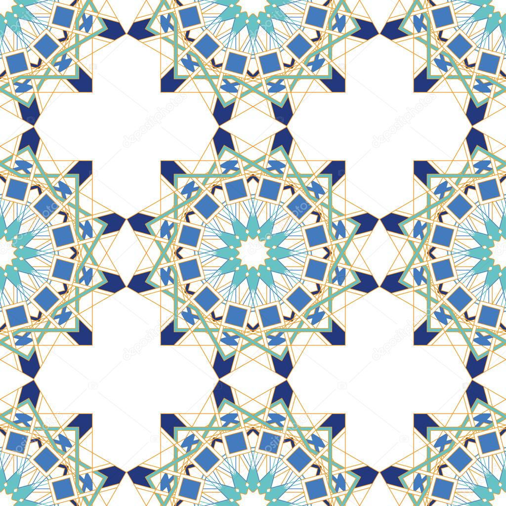 Gorgeous seamless pattern from blue moroccan tiles for Moroccan style wallpaper