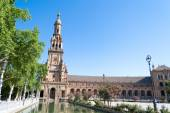 West side of Spain Square in Seville — Stock Photo